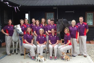 Sarah and the physiotherapy team - 2012 olympics